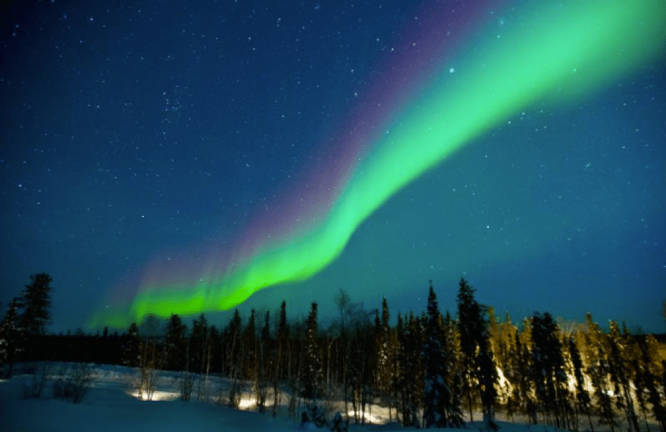 Halal food and places to stay near northern lights
