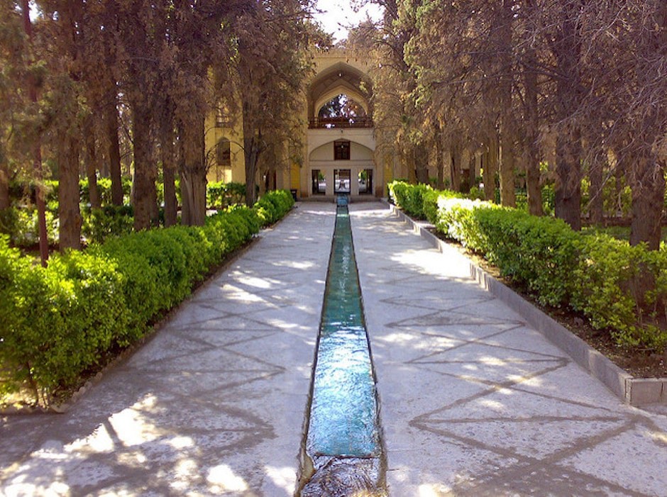 Beautiful bagh e fin gardens in iran