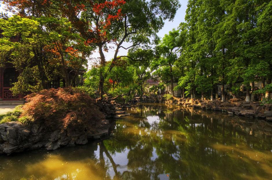 Ji Chang Yuan lake and muslim friendly gardens in china