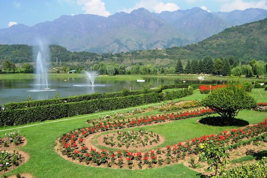 green gardens of shalimar gardens in lahore pakistan