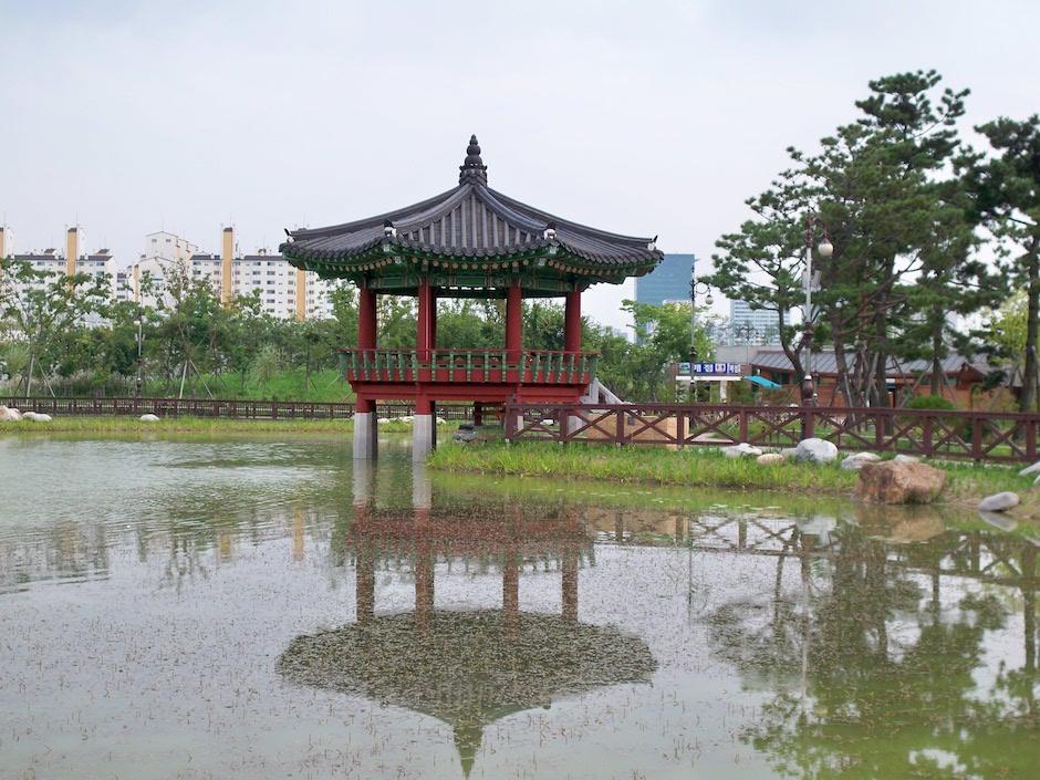 beautiful hanbat arborteum garden in south korea