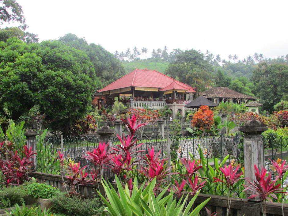 the lush tirta gangga garden in bali indonesia
