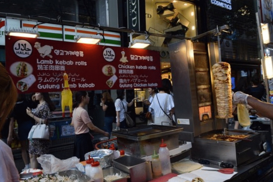 halal food markets and street food in seoul