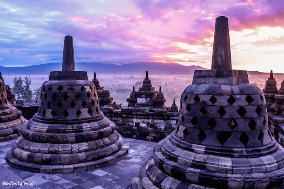 boroburdur temple in magelang indonesia