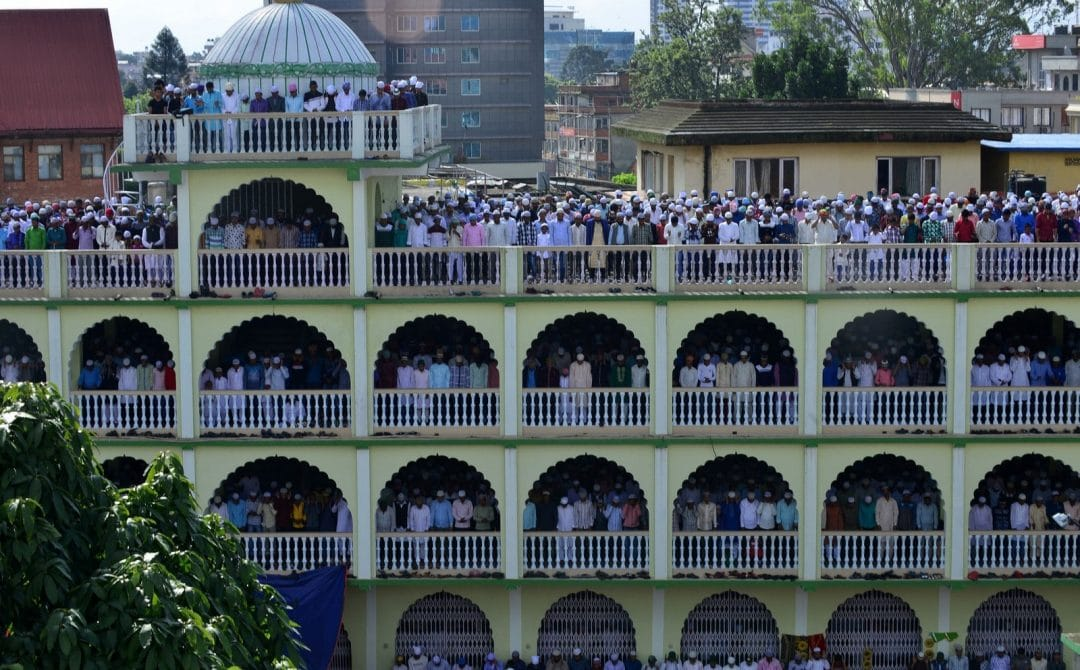 muslims celebrating eid around the world in kathmandu nepal