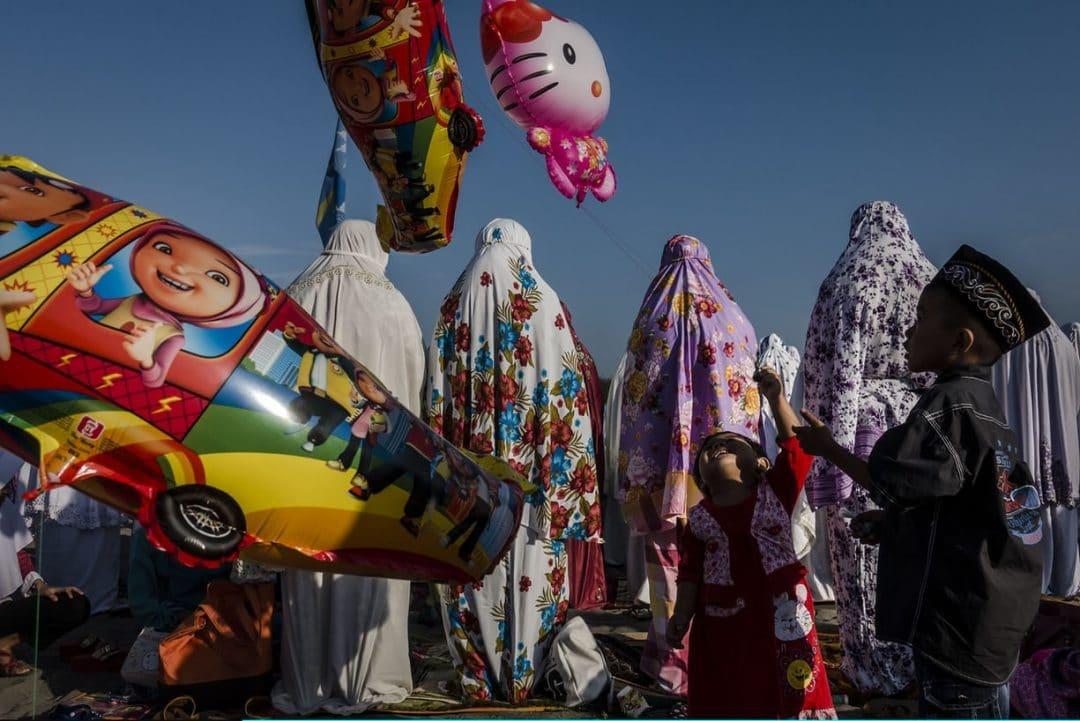 celebrating eid ul fitr in yogyakarta indonesia