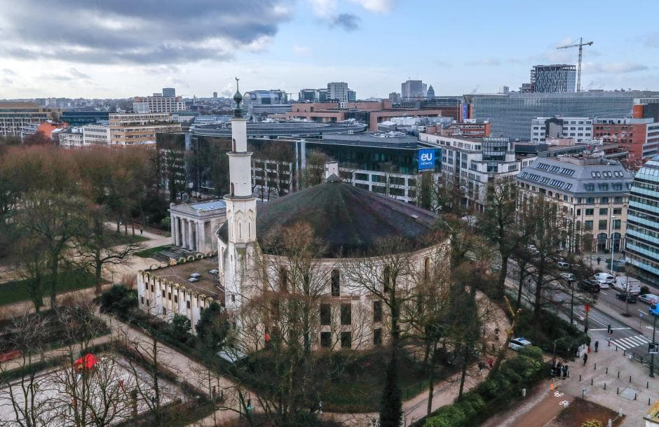 muslim friendly destinations for summers - great mosque of brussels belgium