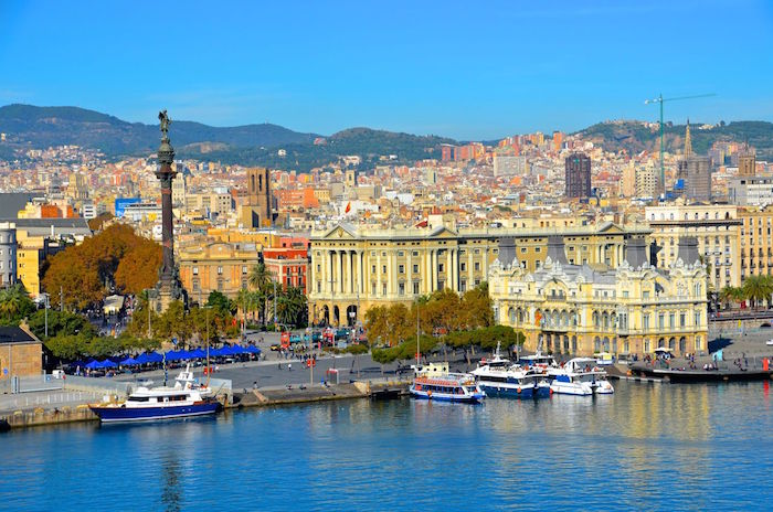 Beautiful places in barcelona spain