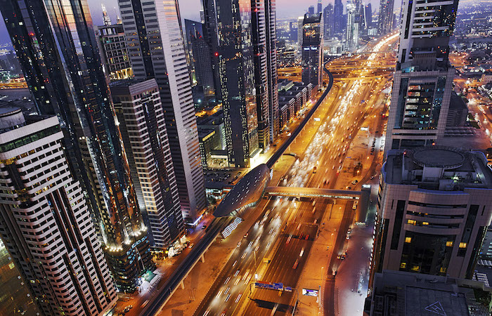 famous place in dubai - sheikh zayed road