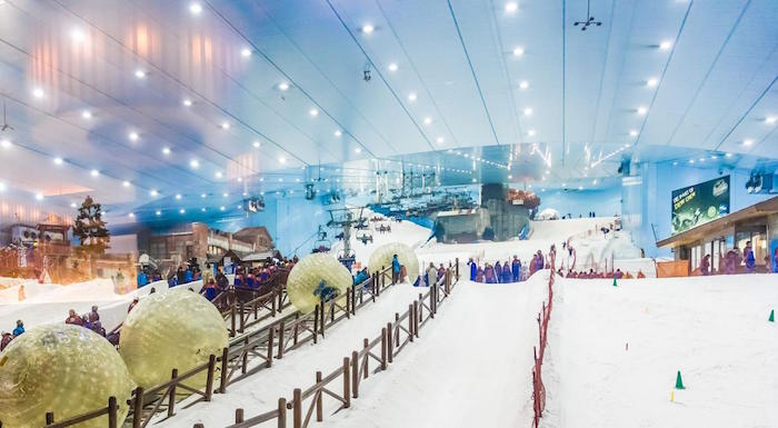 halal friendly places - ski resort dubai