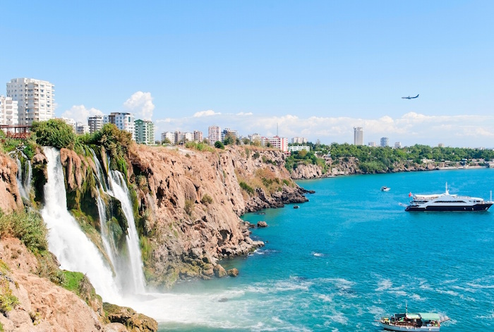 Muslim friendly travel guide to Antalya Turkey - Duden waterfall