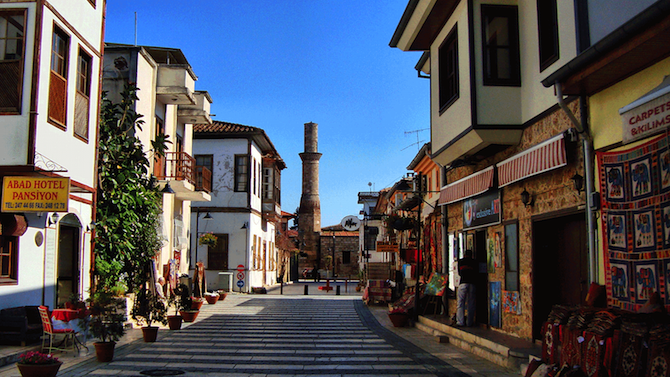 Muslim friendly travel guide to Antalya Turkey - Old town Kaleici