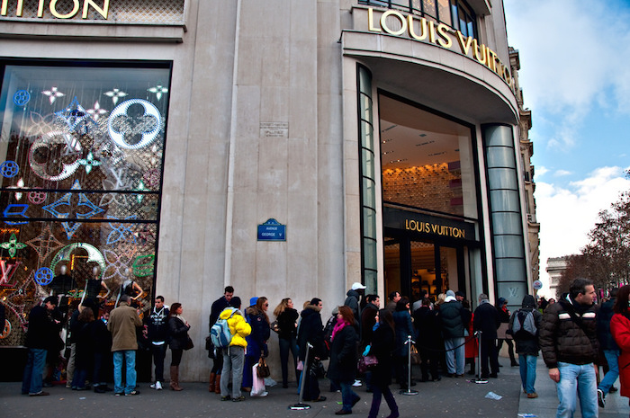 Shopping at Champs de Elysees Paris