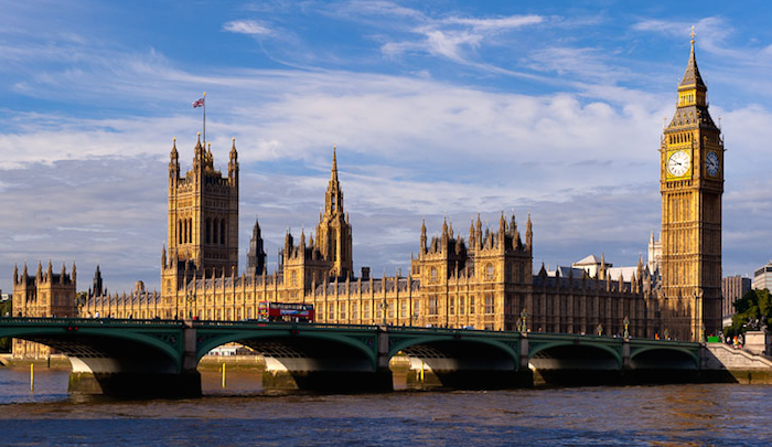 Beautiful landmarks in london - house of parliament