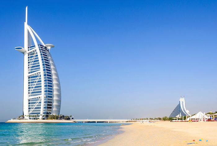 The Jumeirah Beach and Burj Al Arab Hotel