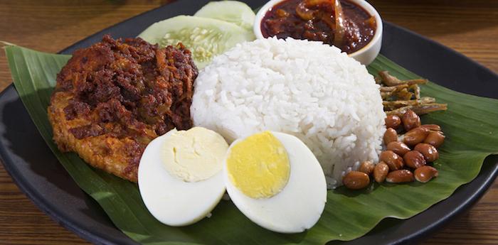 Halal food in Malaysia - Nasi Lemak