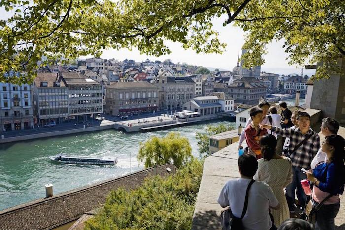 Lindenhof Hill in Zurich Switzerland