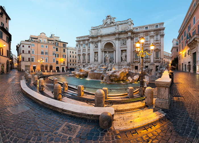 Halal friendly places in Rome - Trevi fountain